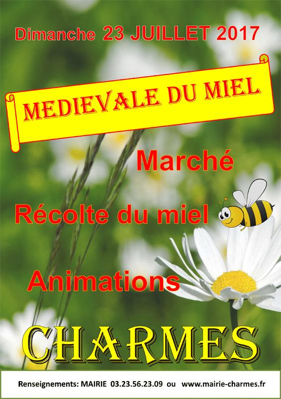 Médiévale du miel à Charmes