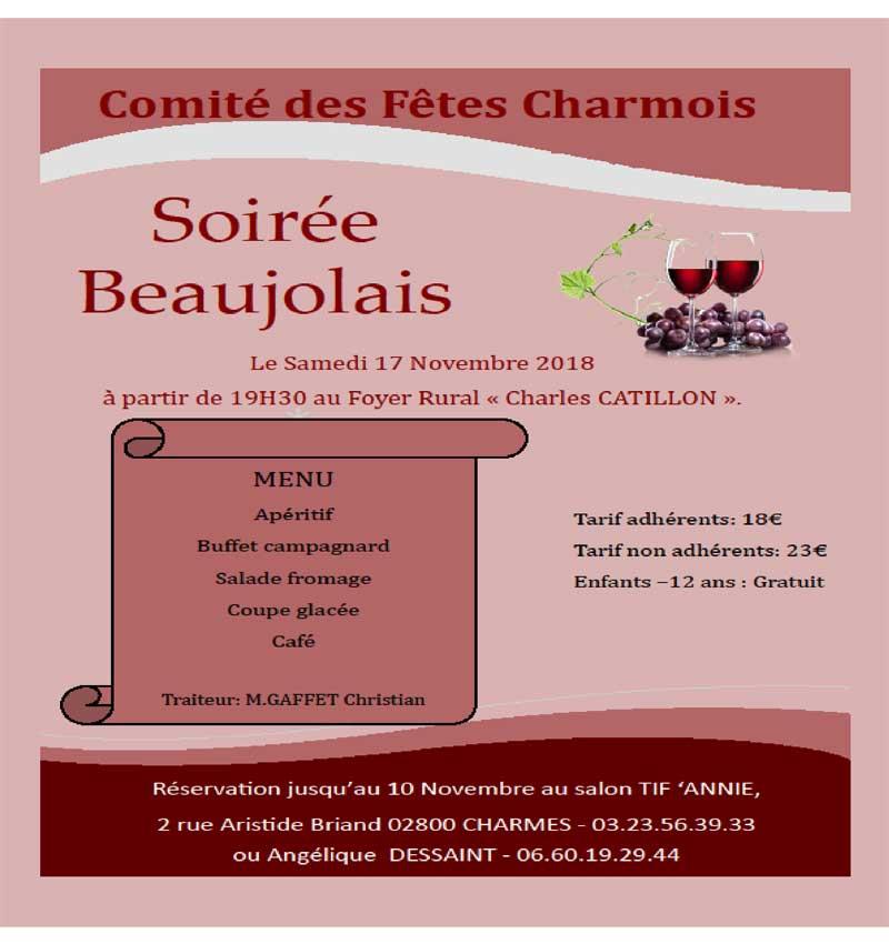 Comité Des Fêtes Charmois - Soirée Beaujolais
