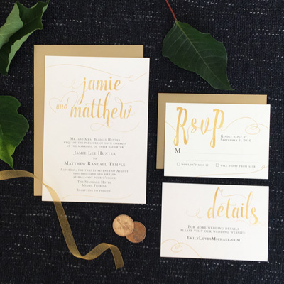 Wedding Stationery by Charming Chestnuts
