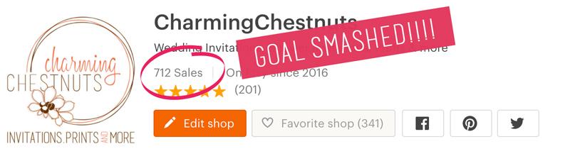 Sales goal smashed - Charming Chestnuts