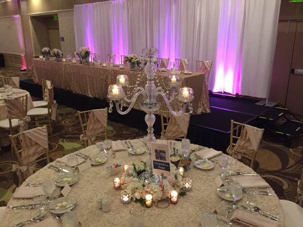 Wedding Centerpiece Rentals Michigan - Crystal Candelabras