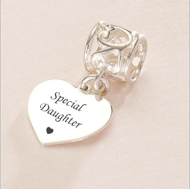 Special Daughter Charm Sterling Silver Fits Pandora
