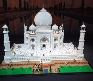 Lego model of Taj Mahal by Brickman