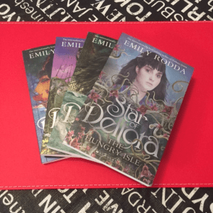 Image of 3 kids book covers from the Star of Deltora series by Emily Rodda