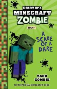 Cover image for book Diary of a Minecraft Zombie, shows green Minecraft character