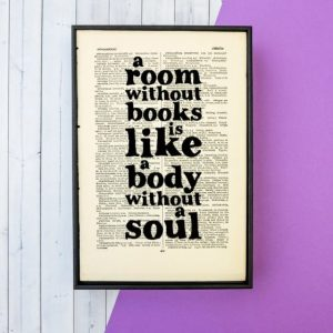 wall print - a room without books is like a body without a soul