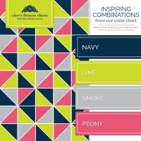 Navy, Lime Green, and Pink  Charming Printables