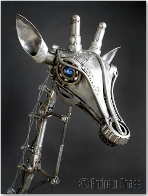 mechanische Giraffe - © Andrew Chase