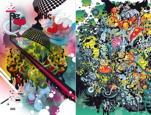 Grafiken von Evgeny Kiselev