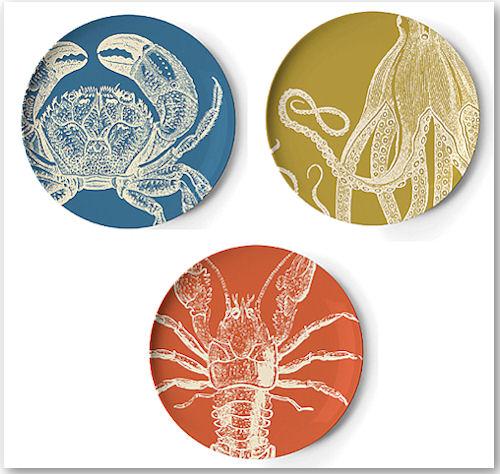 Teller aus der Sea Life Kollektion von Thomas Paul
