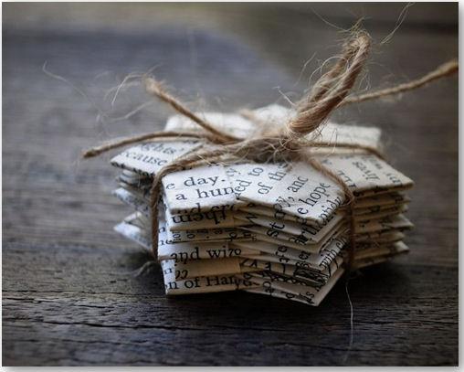 Vintage Paper Folded Stars - © Stephanie von ShePinTea