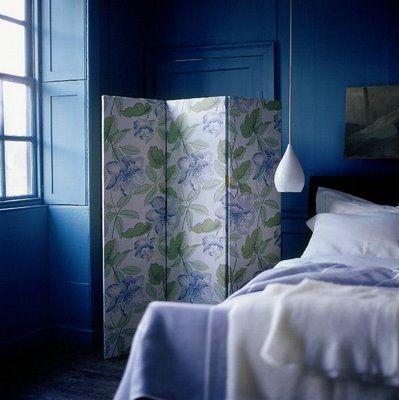 Schlafzimmer blauweiß - © Bo Bedre