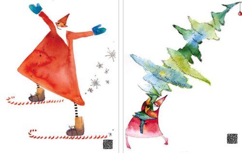 Weihnachtsillustrationen - © Masha Dyans