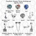 Pandora disney parks exclusive spring 2015 collection