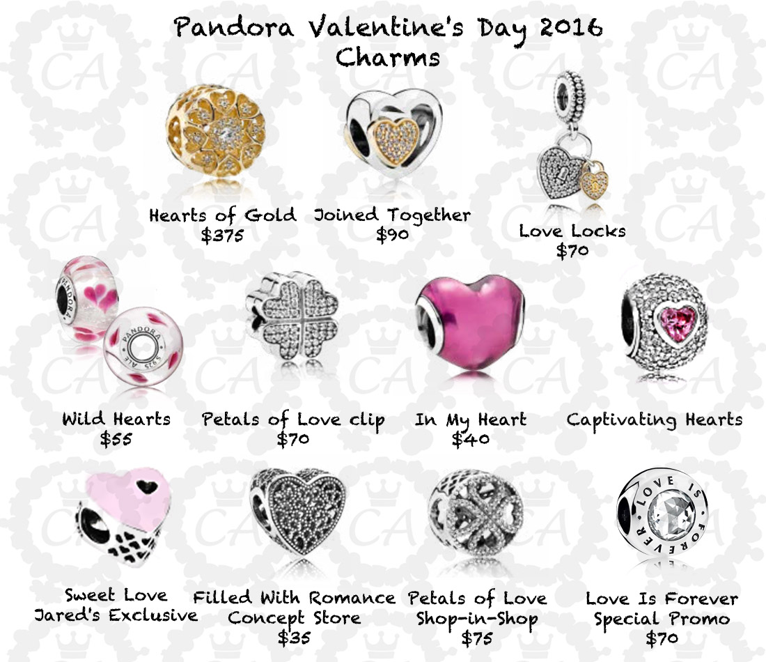 Pandora Valentines Day 2016 Prices Charms Addict