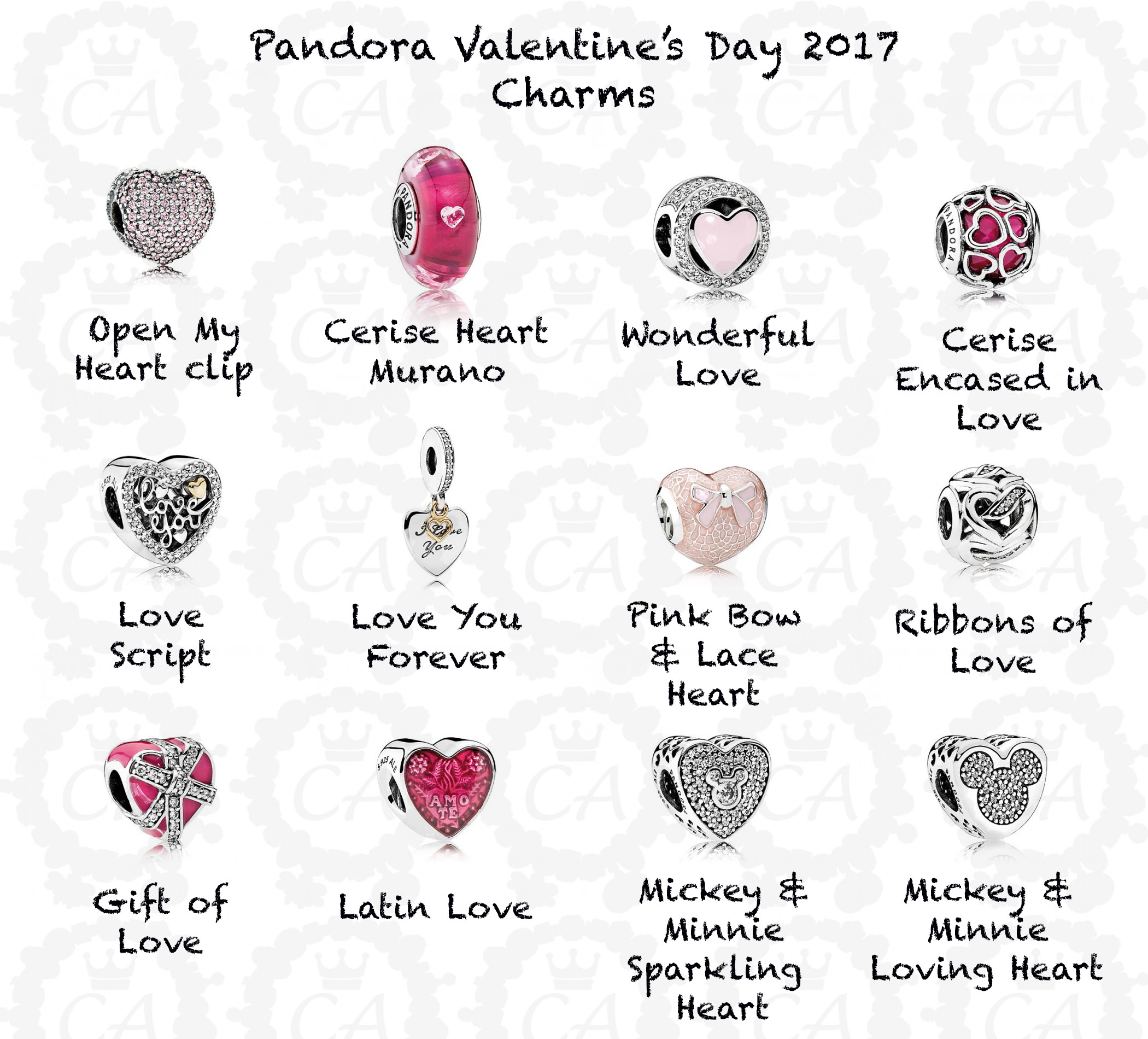 The Gallery For Gt Pandora Bracelet Charms Pink