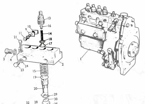 17H6606 FUEL VALVE AND GUIDE