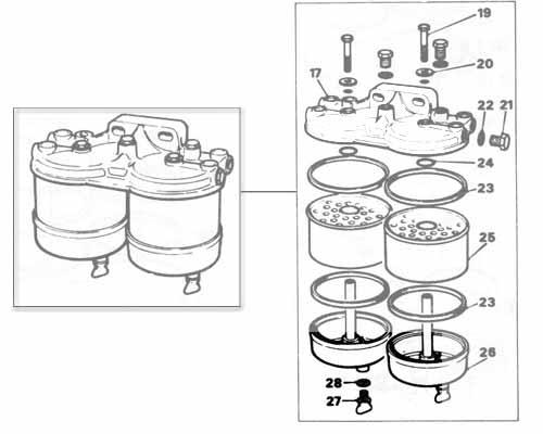 cav fuel filter drain plug
