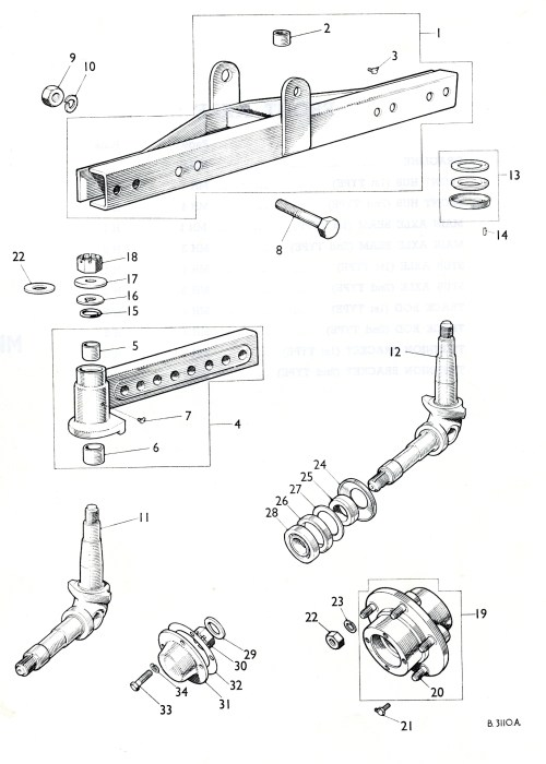 small resolution of view here the nuffield parts book diagram of the nuffield tractor front axle