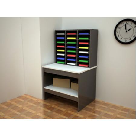 Custom Mail Room Furniture  Attractive 24 Pocket Wood