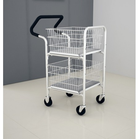 Mail Room and Office Carts Compact Basket Mail