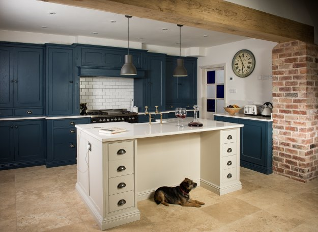 stone blue farrow and ball kitchens Farrow & Ball Painted - Charnwood Kitchens