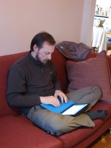 The surface works anywhere, this is me writing this post