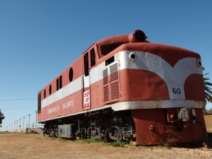A locomotive of the old Gunn Line in Marree
