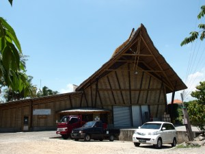 Chocolate factory made out of bamboo...we'll be back!