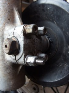 New screw is used and just needs to be shortened