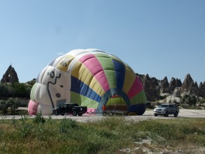 So we did get to see a balloon even if it was not in the air
