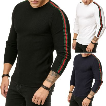 Red Bridge trendy rondehals dunne heren pullover, R387 Mix