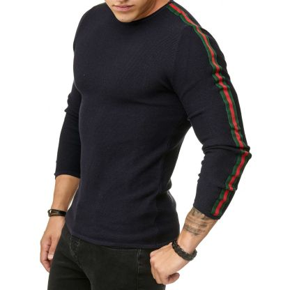 Red Bridge trendy rondehals dunne heren pullover, R387 Navy