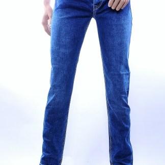 Serseri trendy dikke stiksels heren jeans, S493 Blauw