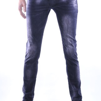 Denim Yes!Boy hippie vintage heren skinny jeans, Y173 Zwart