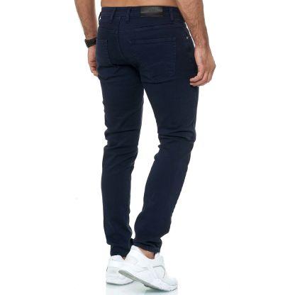 Red Bridge trendy effen navy kleur slim fit heren skinny jeans, R224 Navy