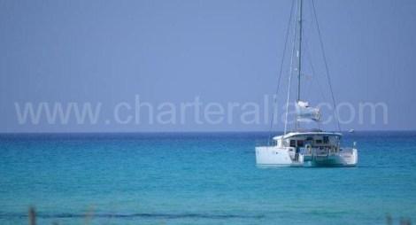 charter catamara ancorado em Maiorca