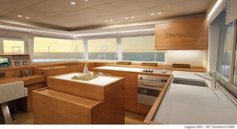 Cozinha de barco de luxo em Ibiza