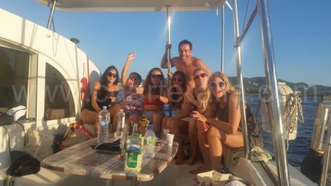 selfie no barco a caminho de Formentera
