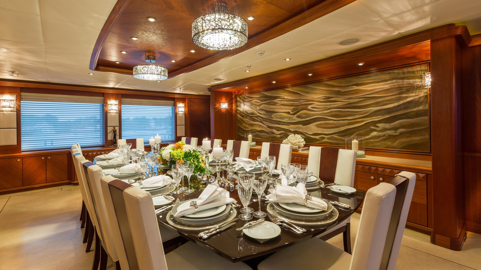 Dining Table Image Gallery  Luxury Yacht Browser  by CHARTERWORLD Superyacht Charter