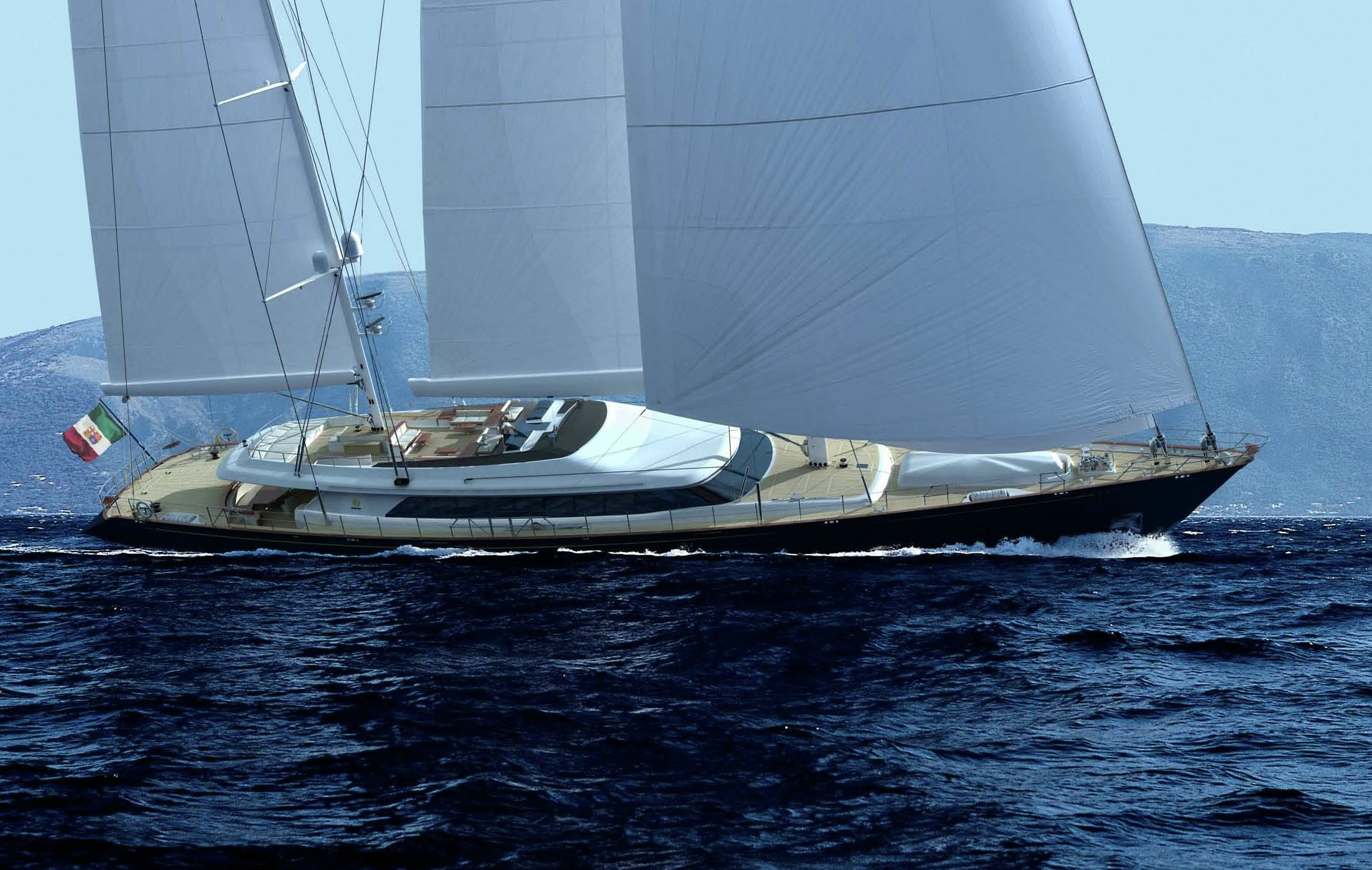 Yacht Enterprise A Perini Navi Superyacht CHARTERWORLD