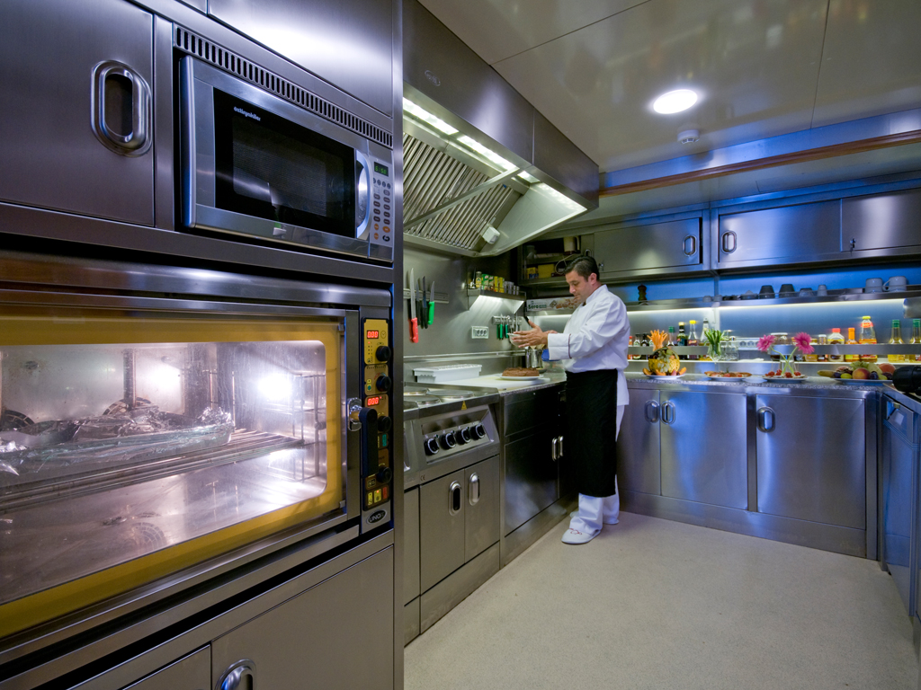 Sailing Yacht DAIMA Galley Luxury Yacht Browser By