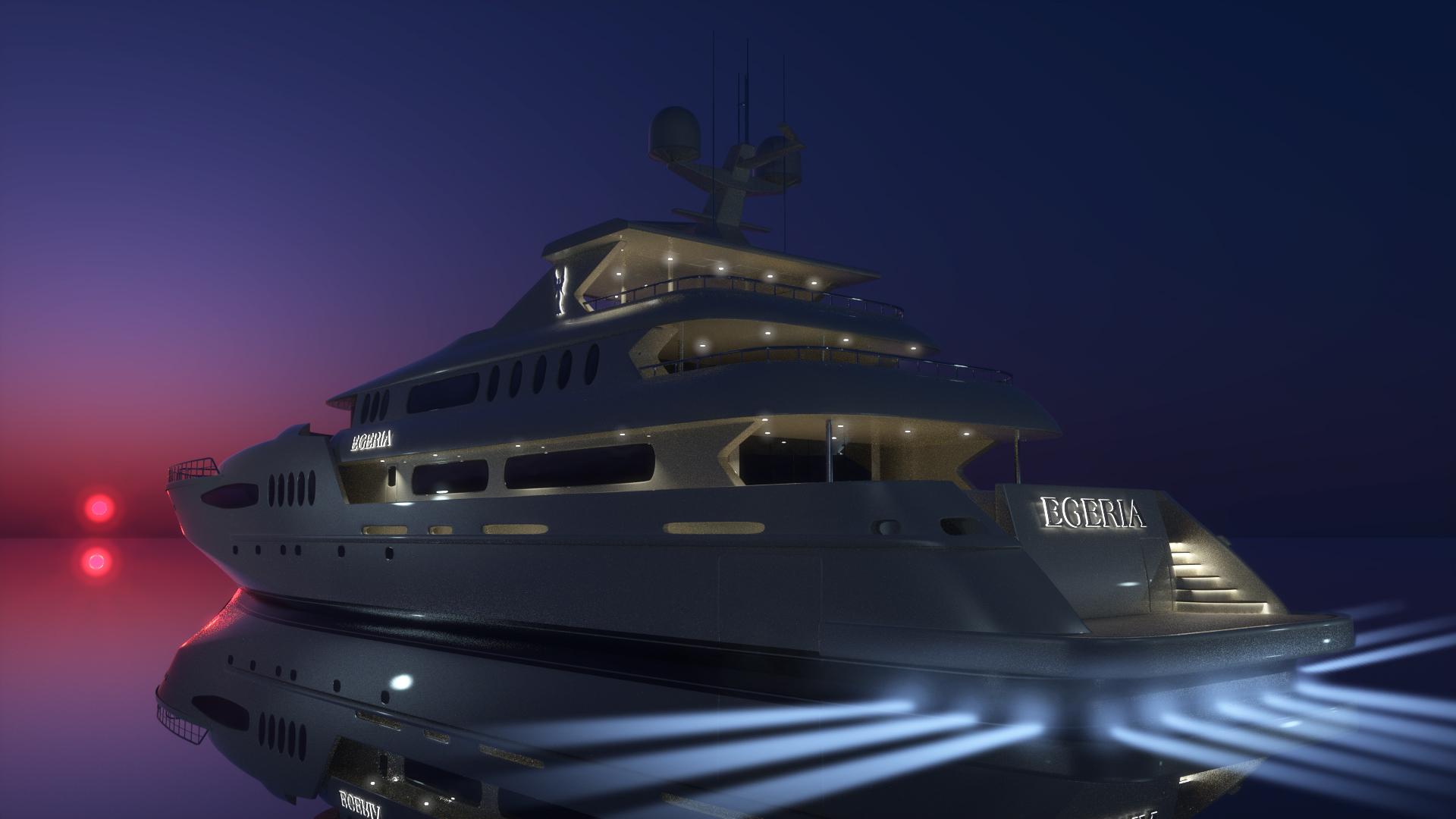Wallpaper Predator 3d Yacht Lord Of The Seas An Egeria Yachts Superyacht