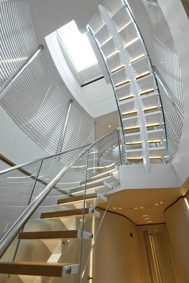 Panthalassa Staircase  Yacht Charter  Superyacht News