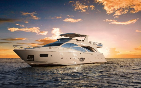 Azimut 95 Luxury Yacht at the Miami International Boat ...