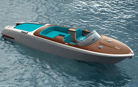 Marc Newson Aquariva Speed Boat - Reinterpreted Aquariva speedboat by