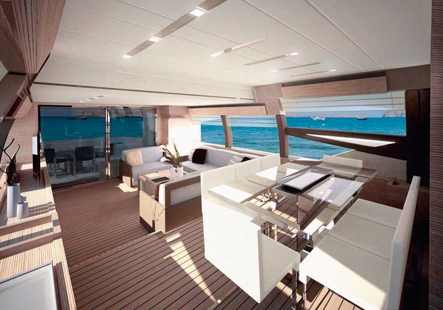 Stunning Interior Of The Ferretti 720 Super Yacht Yacht