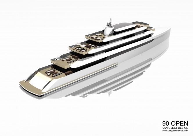VGD 90M Open Yacht Concept by Van Geest Design