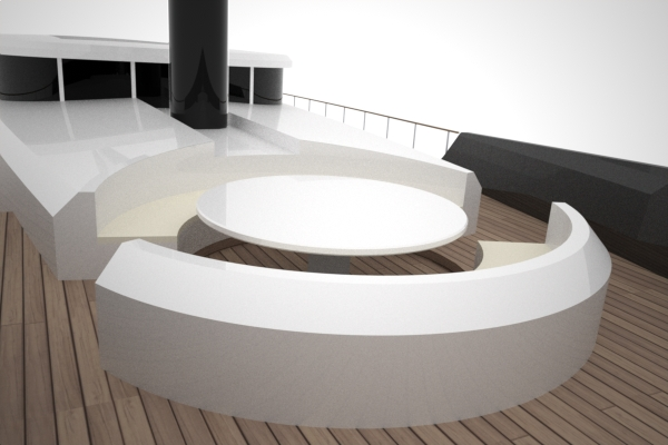 DY 40 Bow Seating by 2Pixel Studio Yacht Design