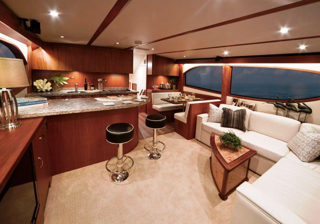 Hatteras GT60 Motor Yacht Interior Yacht Charter